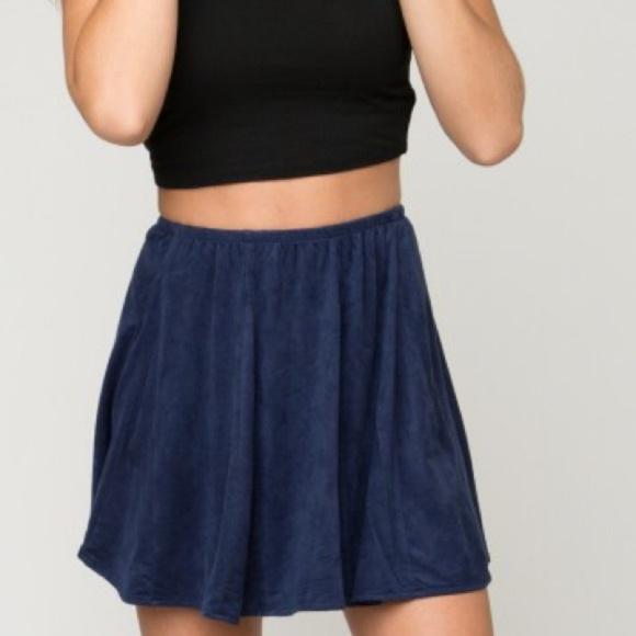 """Brandy Melville Dresses & Skirts - Brandy Melville Blue """"Sanny"""" Skater Skirt"""